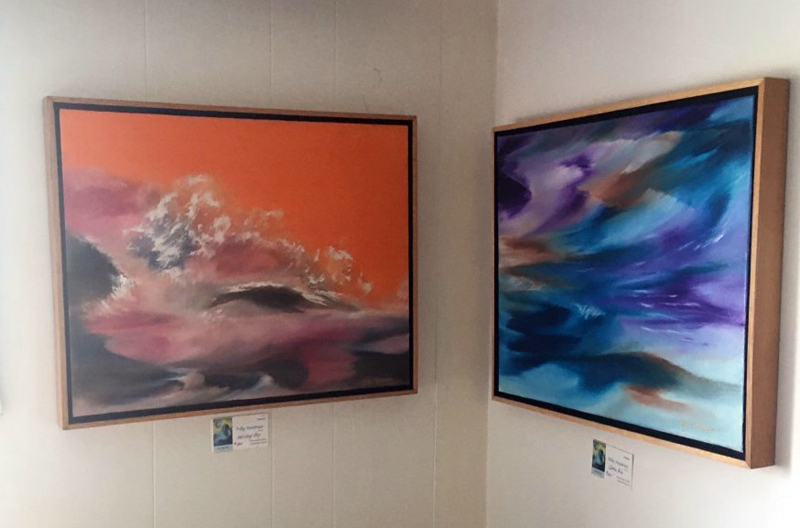 Art by Polly Steadman is on display at Savory Maine in Damariscotta.