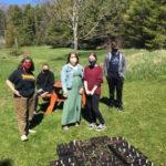Students Transplant Seedlings for Morris Farm Plant Sale