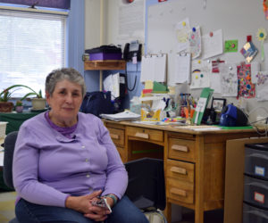 Andrea Powell sits in her classroom on Monday, June 14. It the same classroom where she attended kindergarten in 1960 and it is where she has completed her career as an educator. (Nate Poole photo)