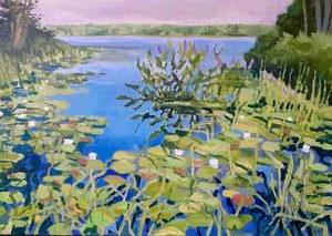 """Knickerbocker Pond"", by John Butke, acrylic, 20""x30"""