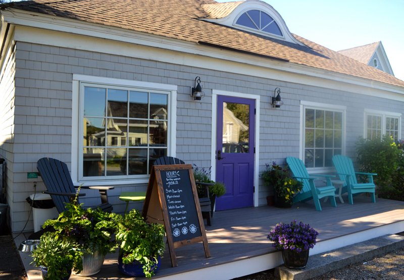 The entrance to Kneaded Provisions on Rutherford Island. The business opened for the season on June 12. (Nettie Hoagland photo)