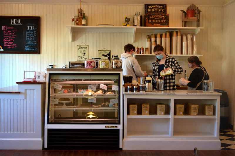 Kneaded Provisions specializes in Jennifer Keegan's homemade baked goods and take-home meals, specialty coffee drinks, pantry goods, and local art. (Nettie Hoagland photo)