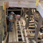 Temporary Observation Platform Built Under Mill
