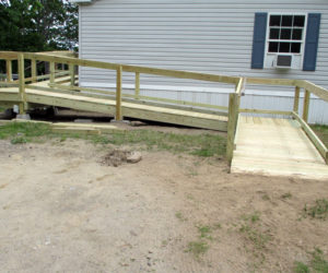 Thanks to CHIP volunteers, Maynard has a new ramp and safe exit from his home.