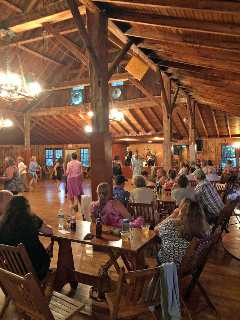 Music fans at the July 1 Memphis Lightning Show at Lakehurst Lodge, Damariscotta. (Photo courtesy Lincoln County Television)