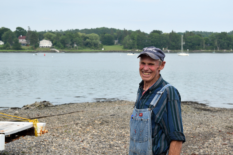 At 88 years old, Paul Bryant, owner of Riverside Boat Co., has been Newcastle's harbormaster since 1971 and Damariscotta's harbormaster since the 80s. (Nate Poole photo)