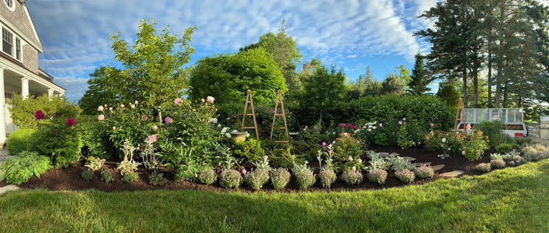 """Miller Point garden, at the end of Town Landing Road, will be site of """"The Garden As Landscape"""" on July 8 to benefit Bremen Library."""