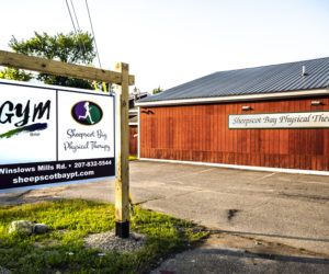The sign for Sheepscot Bay Physical Therapy and TheGym@SBPT at 75 Winslows Mills Road in Waldoboro on July 6. (Bisi Cameron Yee photo)
