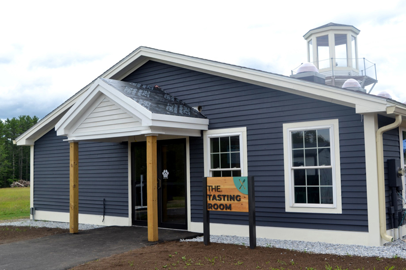 The entrance to the tasting room at the Maine Tasting Center campus in Wiscasset. The center offers a unique tasting and learning experience for visitors to discover Maine-made beverages and foods. (Nettie Hoagland photo)