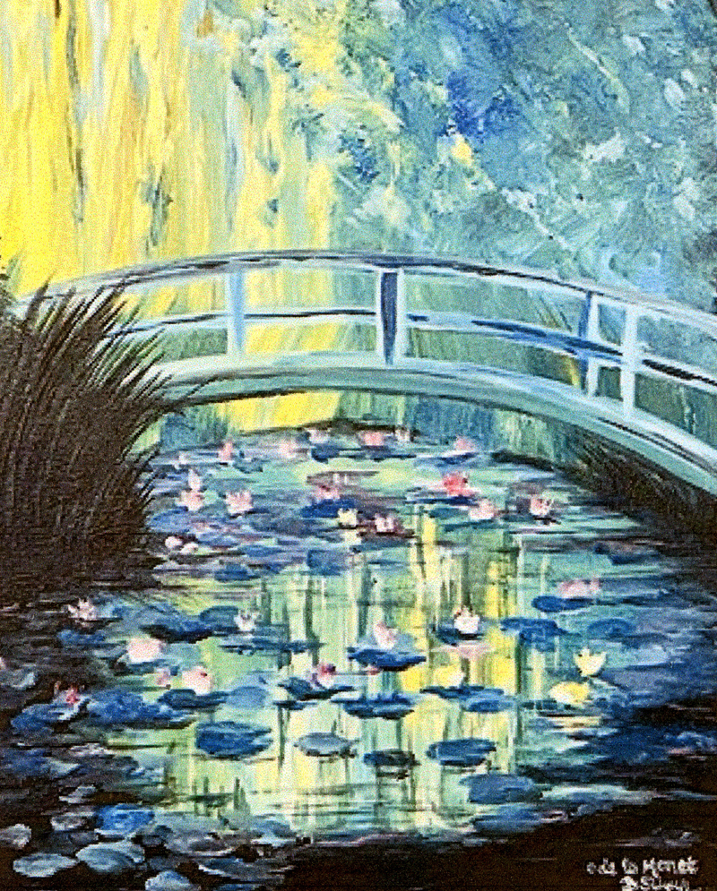 A painting done in the style of Monet.