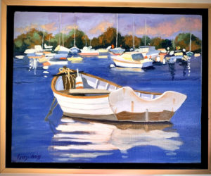 The artwork of Alexandra Perry-Weiss on display for the month of August at the Bristol Area Library. (Photo courtesy Bristol Area Library)