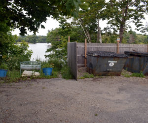 J & J Jamaican Grocery and Gift Shop has received permission from the town of Damariscotta to use the space to the left of the dumpsters, at the end of Griffin Lane, for operation of its food smoker. The store will relocate the smoker and begin cooking food from 11:30 a.m. to 3 p.m. on Saturday, Aug. 21. (Evan Houk photo)