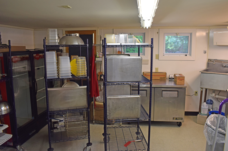 A kitchen prep and storage space was added to the original Larson's Lunch Box building in Damariscotta shortly after owners Barb and Billy Ganem took over in 2004. The Ganems announced on Sunday, Aug. 8 that Larson's is closed and they will be selling the business. (Evan Houk photo)