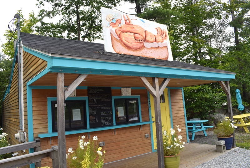The Larson's Lunch Box building in Damariscotta, which underwent extensive and colorful renovations in 2019, on Tuesday, Aug. 10. Owners Barb and Billy Ganem announced on Sunday, Aug. 8 that Larson's is closed and they will be selling the business. (Evan Houk photo)