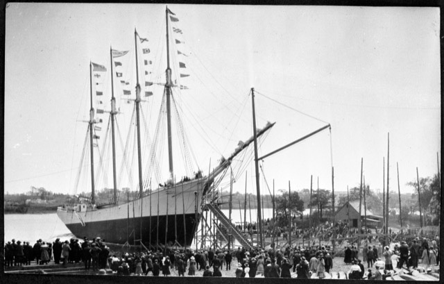 """This 1921 photo of the """"Virginia Dare"""" will be part of the pictorial exhibit of Newcastle in the Veterans Memorial Park on Saturday, Aug. 21. (Photo courtesy Newcastle Historical Society)"""