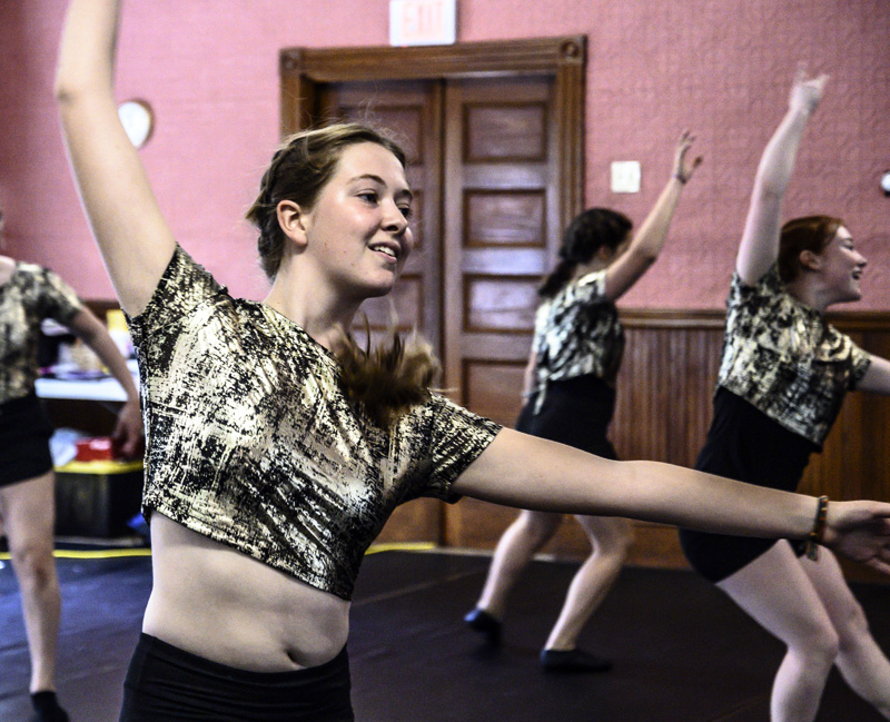 16-year-old Elle Stevens is doing a group routine.  Stevens, who will be teaching a pre-ballet class at the studio, said dancing makes her come alive.  (photo by Bisi Cameron Yee)