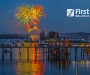 A photo of fireworks by Louis Glaser, of Boothbay Harbor, was selected as the July winner for First National Bank's 14th annual Customer Photo Calendar Contest.