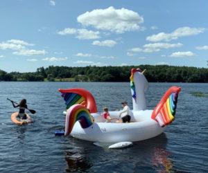 Enjoying the Unicorn on Damariscotta Lake. (Photo courtesy Mike Christensen)