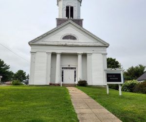 The White Church in need of some love and care but help is on its way.