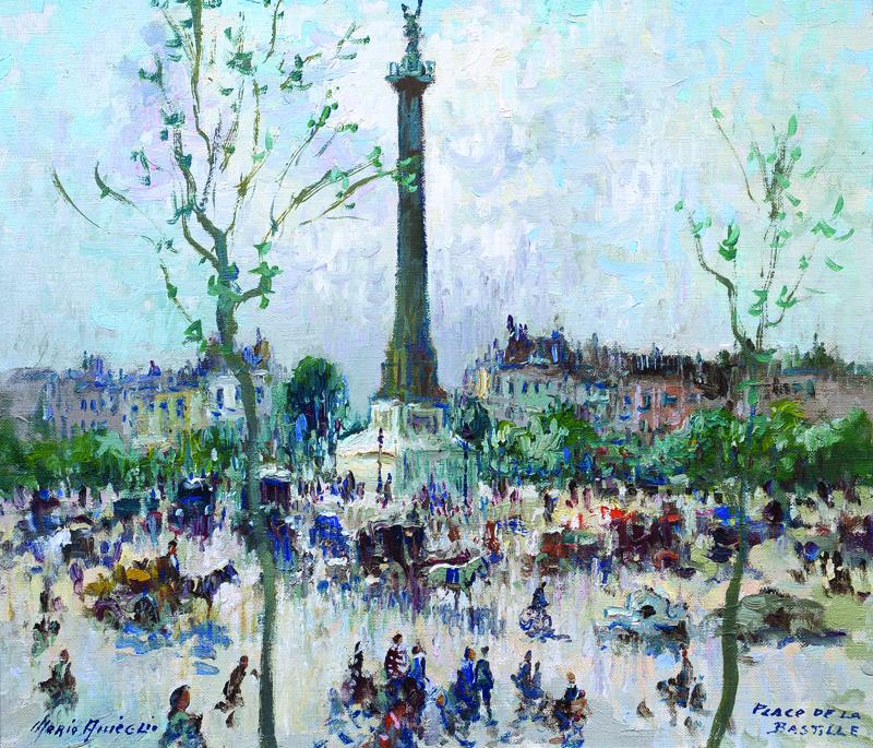 """""""Place de la Bastille,"""" by Merio Ameglio."""