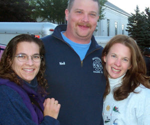 The three primary organizers of the 9/11 relief convoy from Lincoln County to New York City on Sept. 16, 2001 were Cynthia Simonds (left), Neil Genthner, and Sarah Wentworth. (Greg Latimer photo)