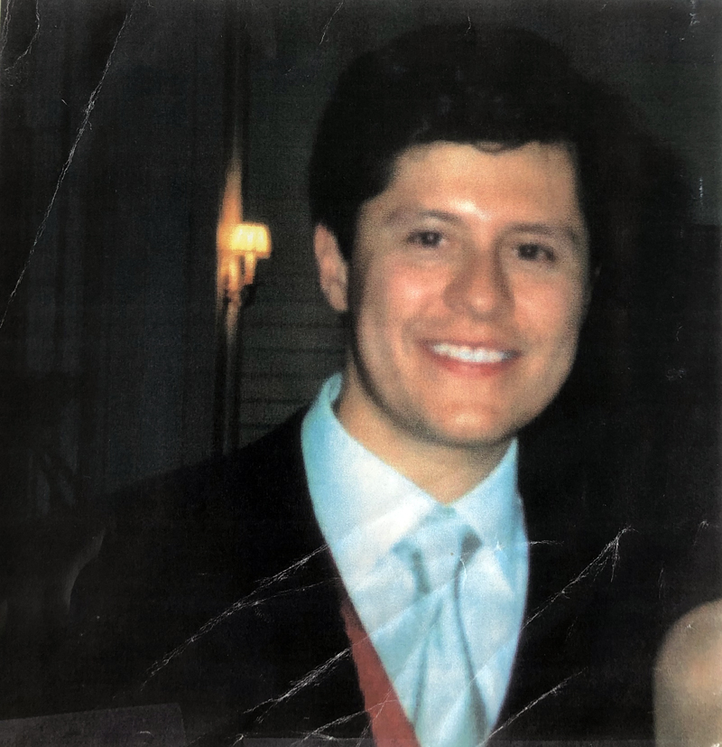 Cesar Augusto Murillo at his wedding less than a year before Sept. 11, 2001. Emily Greenberg and other friends of Murillo used this photo in the missing flyers that they posted around Manhattan in the days following the attacks in hopes of finding him in the hospital. (Photo courtesy Emily Greenberg)