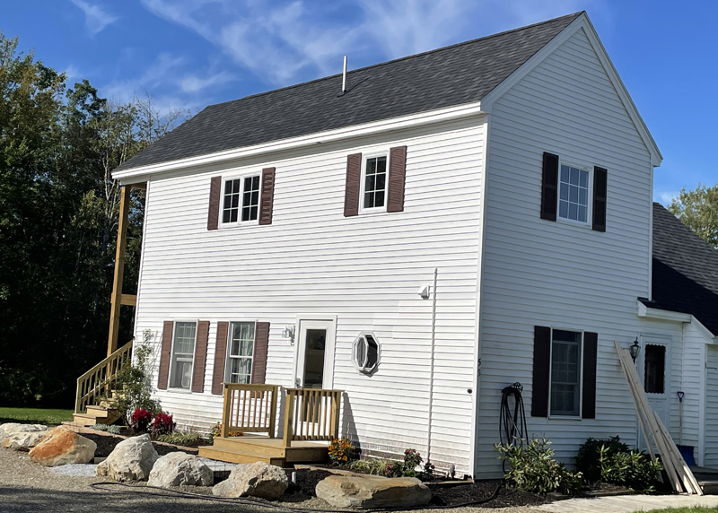 The newly renovated building owned by Stepping Stone Housing, Inc. at 53 Biscay Road in Damariscotta will host an open house from 10 a.m. to 2 p.m. on Saturday, Sept. 18. A yard sale will also be held concurrently next door. (Photo courtesy Carolyn Neighoff)