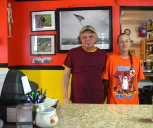 Lenny Santos and Tarah Diffin officially reopened the Hot Spot Diner at its new location at 542 Gardiner Road in Dresden after a decade and a half of food service in Wiscasset. (Nate Poole photo)