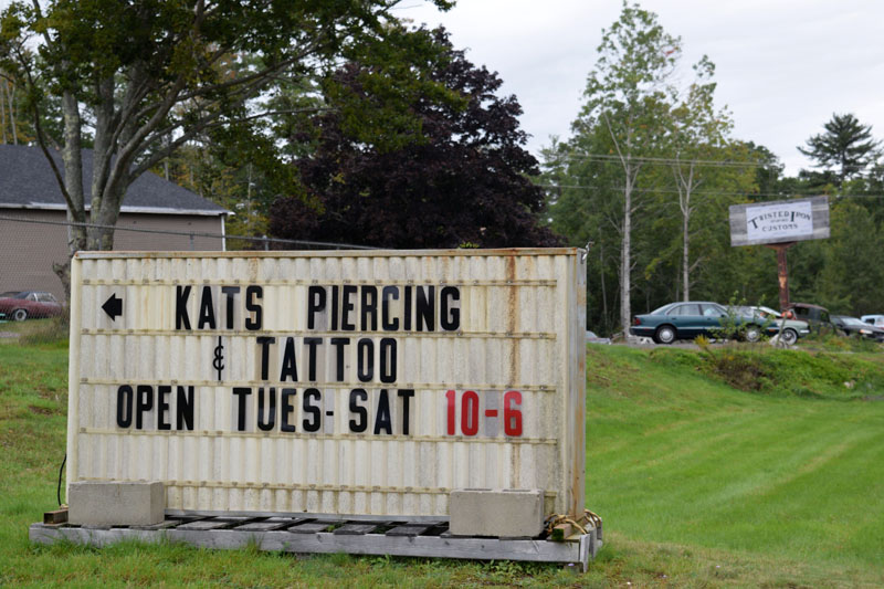 Kat's Piercings and Tattoos offers tattoos from three full-time artists and piercing's courtesy of Kat Stewart, and is open Tuesday through Saturday, from 10 a.m. to 6 p.m. (Nate Poole photo)