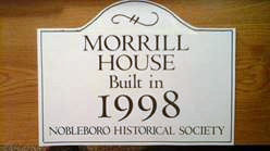 An example of a house sign available for $65 plus tax through Nobleboro Historical Society. (Courtesy photo)