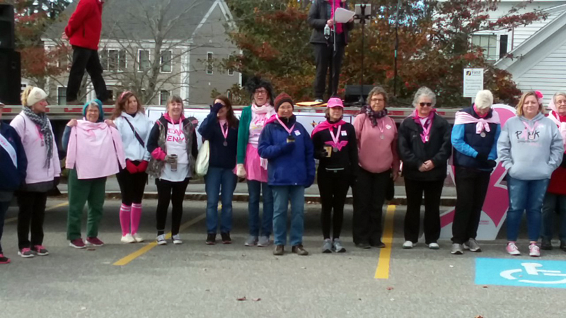 Walkers from a previous Making Strides Against Breast Cancer walk in Damariscotta and Newcastle. (Courtesy photo)