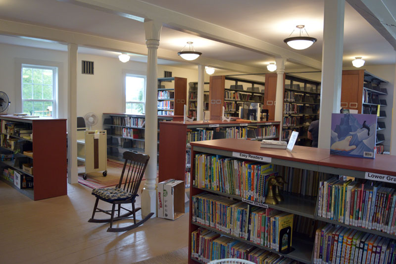 Beginning in June 2020, Whitefield Library volunteers gutted the former Arlington Grange's first floor, installing new plumbing, insulation, sheetrock, shelves, structural supports, and various other improvements to provide the town with the gem that sits atop Grand Army Road. (Nate Poole photo)