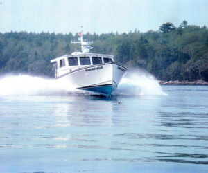 Farrin's Boatshop recently delivered a boat for the Maine Marine Patrol.
