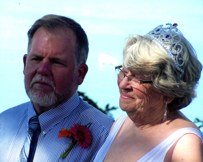 Martha Brackett and her widower Mark Wilson on their wedding day in 2008. Brackett died on Aug. 11. She worked in several different restaurants in the area, earning high praise from locals and visiting celebrities alike. (Photo courtesy Mark Wilson)
