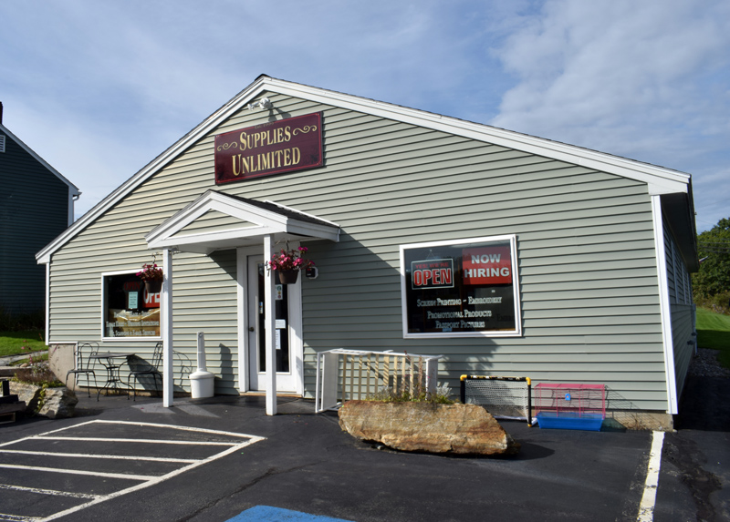 The exterior of Supplies Unlimited, located at 47 School St. in Damariscotta, on Oct. 5. Due to a change in ownership, the store will be closed from Oct. 10-17 to finalize the transition. (Evan Houk photo)