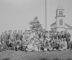 Members of the men's and women's clubs of the First Baptist Church of Nobleboro, 1929. (Photo courtesy Nobleboro Historical Society)